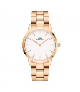 DANIEL WELLINGTON Iconic Link Rose Gold Stainless Steel Bracelet 36mm