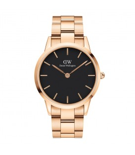 DANIEL WELLINGTON Iconic Link Rose Gold Stainless Steel Bracelet 40mm
