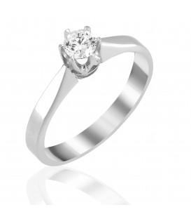 Φινετσάτο μονόπετρο κορώνα με διαμάντι