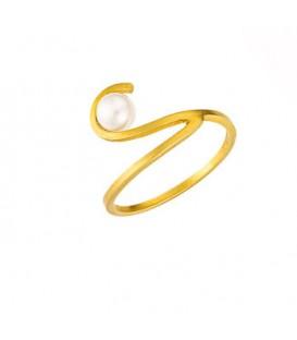 Χειροποίητο δαχτυλίδι από χρυσό με μαργαριτάρι