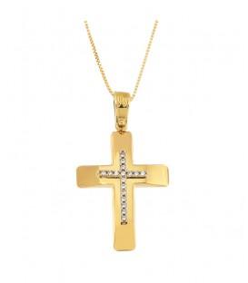 Γυναικείος βαπτιστικός σταυρός από χρυσό