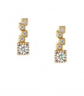 Μίνιμαλ σκουλαρίκια από κίτρινο χρυσό