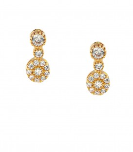 Fashion σκουλαρίκια από κίτρινο χρυσό