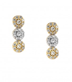 Σκουλαρίκια ροζέτες από κίτρινο χρυσό