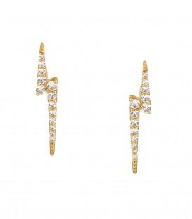 Σκουλαρίκια αστραπή από κίτρινο χρυσό