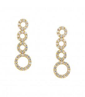 Σκουλαρίκια με κύκλους από κίτρινο χρυσό