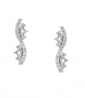 Μίνιμαλ σκουλαρίκια από λευκόχρυσο