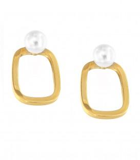 Μίνιμαλ χειροποίητα σκουλαρίκια από χρυσό