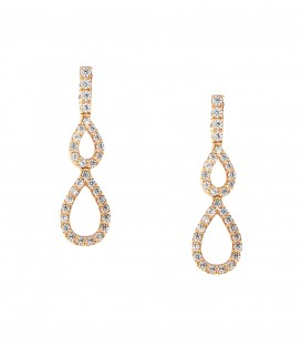 Μίνιμαλ σκουλαρίκια από ροζ χρυσό