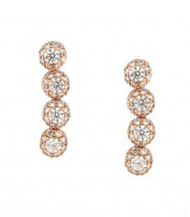 Σκουλαρίκια ροζέτες από ροζ χρυσό