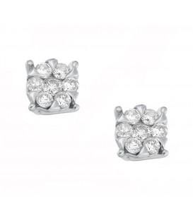 Σκουλαρίκια με διαμάντια λευκόχρυσα