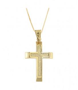 Ανδρικός βαπτιστικός σταυρός από χρυσό