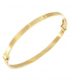 Βραχιόλι χειροπέδα απο κίτρινο χρυσό