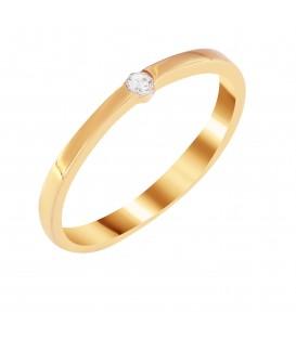 Δαχτυλίδι μονόπετρο από ροζ χρυσό με ζιργκόν