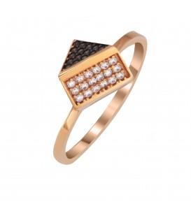 Fashion δαχτυλίδι τρισδιάστατο από ροζ χρυσό