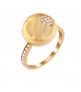 Fashion δαχτυλίδι από χρυσό με ζιργκόν