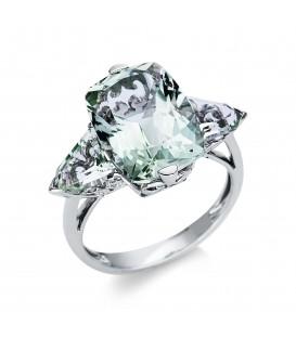 Ring whitegold with diamond