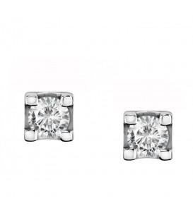 Live Diamond Σκουλαρίκια με Οικολογικό Διαμάντι από Λευκόχρυσο