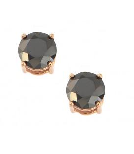 Σκουλαρίκια με μαύρα διαμάντια