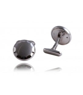Cuff links whitegold