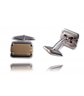 Cuff links whitegold and gold