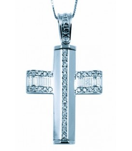 Cross for women whitegold with zircon