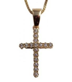 Σταυρός γυναικείος χρυσό με ζιργκόν