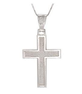 Cross for men whitegold