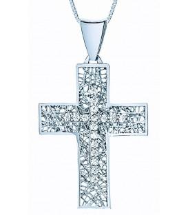 Cross for women whitegold with zircon