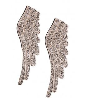 Σκουλαρίκια φτερά ασημένια