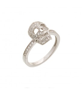 Ring silver with line