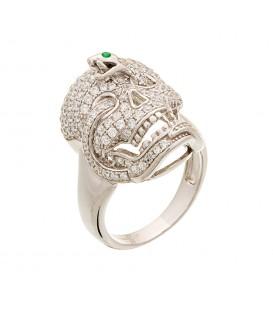 Δαχτυλίδι με νεκροκεφαλή ασημένιο