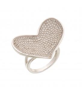 Δαχτυλίδι με καρδιά ασημένιο