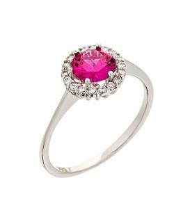 Δαχτυλίδι οικονομικό ροζέτα από χρυσό