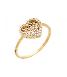 Δαχτυλίδι Καρδιά Διάτρητη