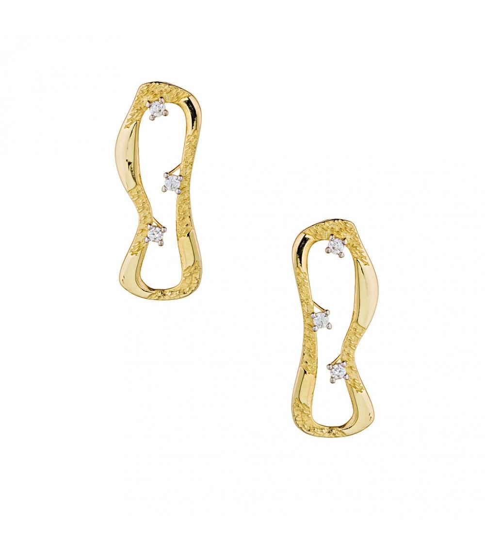 Σκουλαρίκια Χειροποίητα χρυσά - www.kosmima.info cb3d6584459