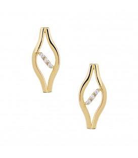 Σκουλαρίκια Μάτι χρυσά