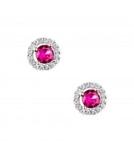 Σκουλαρίκια Ροζέτα με χρώμα λευκόχρυσα