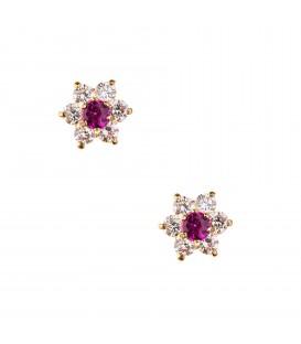 Σκουλαρίκια Ροζέτα με χρώμα χρυσά