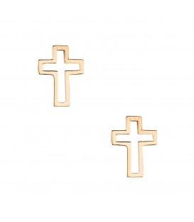Σκουλαρίκια Σταυρός  χρυσά