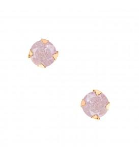 Σκουλαρίκια κλασικά με χρώματιστά ζιργκόν  χρυσά