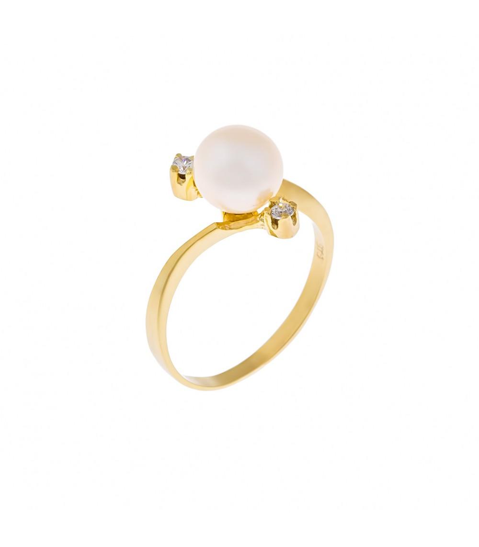 Δαχτυλίδι με μαργαριτάρι από χρυσό - www.kosmima.info fd1d83f072c