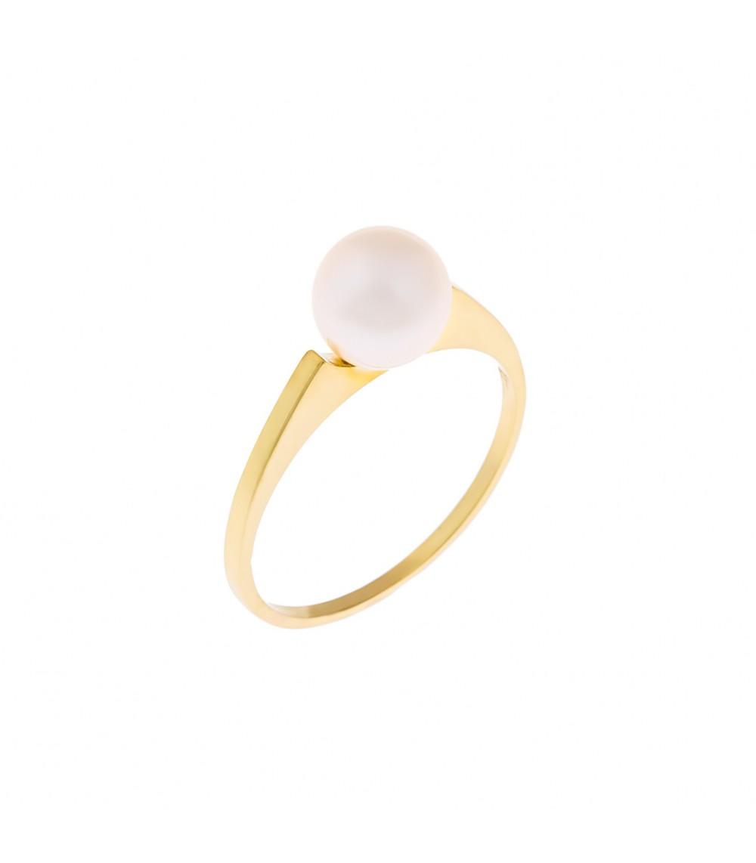 Δαχτυλίδι κλασικό με μαργαριτάρι από χρυσό - www.kosmima.info 265174a2dd6