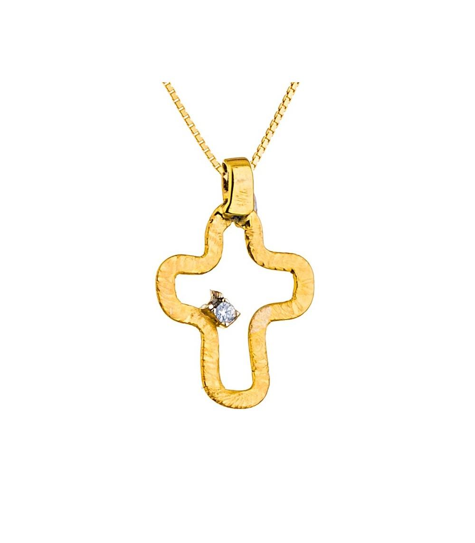 Χειροποίητος Σταυρός χρυσός - www.kosmima.info 6b347f97289