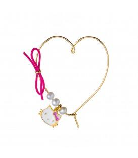 Καρφίτσα παιδική καρδούλα για κορίτσι με μαργαριτάρια από χρυσό