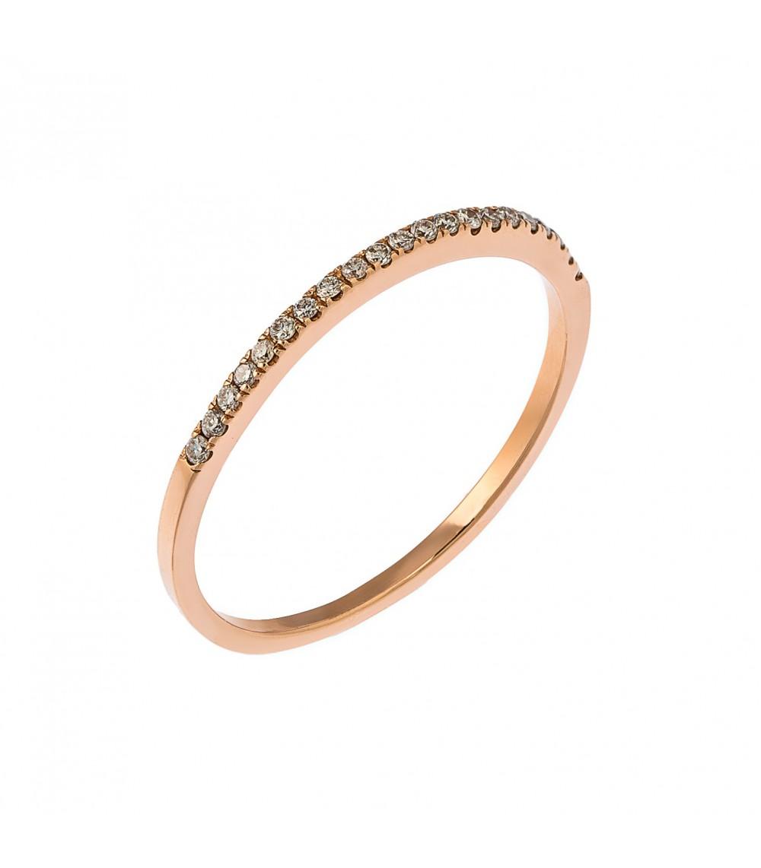 Μισόβερο ροζ χρυσό με διαμάντια - www.kosmima.info 3b7dfa421f6