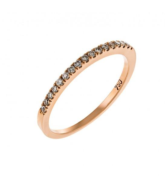 Μισόβερο μεγάλο ροζ χρυσό με διαμάντια - www.kosmima.info bac03398cce