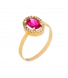 Δαχτυλίδι με Οβάλ Ροζέτα από χρυσό