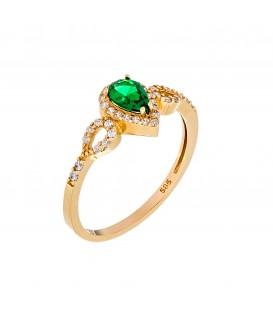 Δαχτυλίδι με Ροζέτα δάκρυ από χρυσό