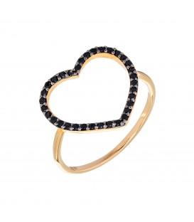 Δαχτυλίδι με καρδιά διάτρητη από χρυσό